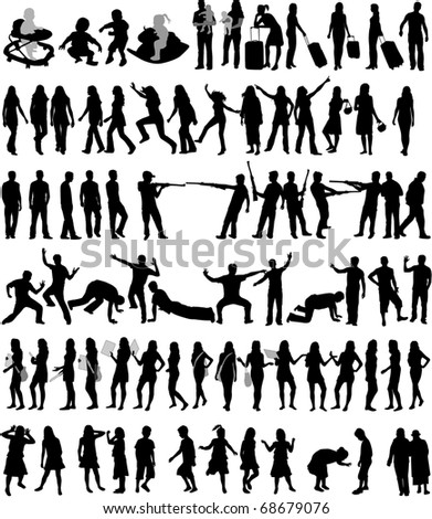Conception Silhouettes - stock vector