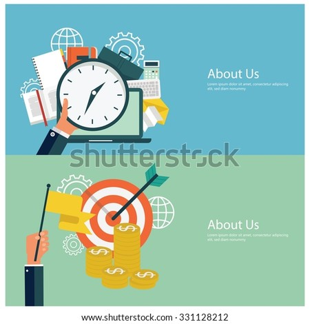 Concepts for web banners and promotions. Flat design financial concepts - stock vector
