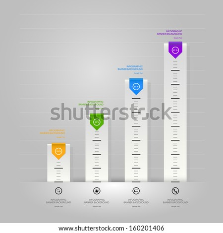 Conceptual design of paper Infographics for business and commercial - Vector illustration - stock vector