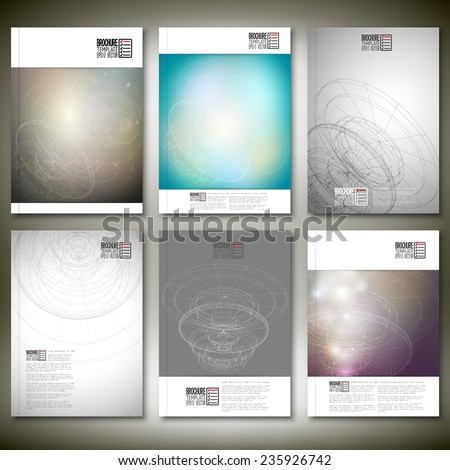 Conceptual design, technology background vector. Brochure, flyer or report for business, template vector. - stock vector