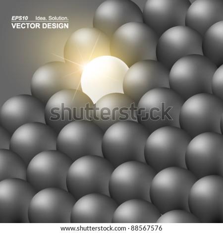 conceptual glow in the dark vector design - stock vector