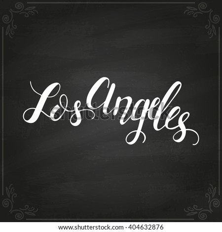 Los angeles text stock photos royalty free images Logo designers los angeles