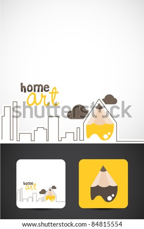 Conceptual illustration for Home art design, Vector EPS10.