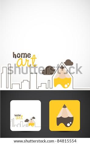 Conceptual illustration for Home art design, Vector EPS10. - stock vector