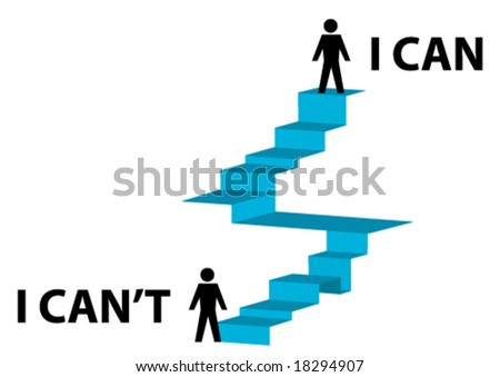 Conceptual illustration of achieving a goal - stock vector
