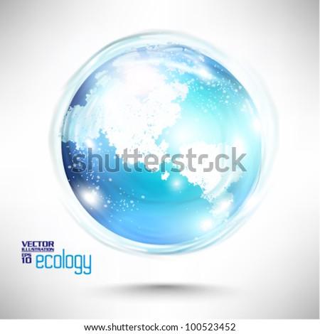 conceptual modern earth globe vector design - stock vector