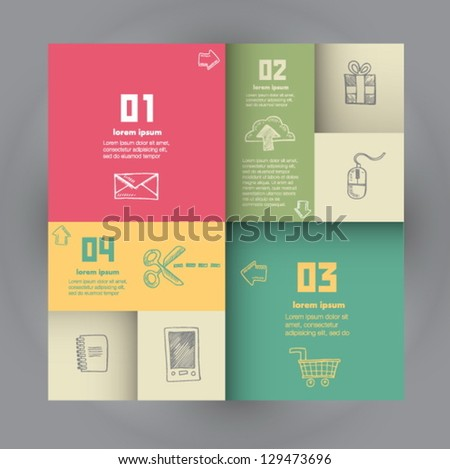 Conceptual vector Design template - stock vector