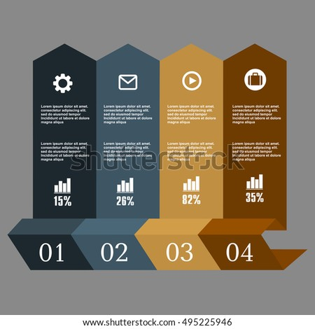 Conceptual vector Design template. Infographics element. Layout for your options or steps