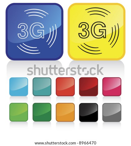 Conceptual vector illustration of 3G phone sign web2.0 - check my gallery for more. proposed colors