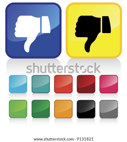 Conceptual vector illustration of thumb down sign. check my gallery for more. proposed colors - stock vector