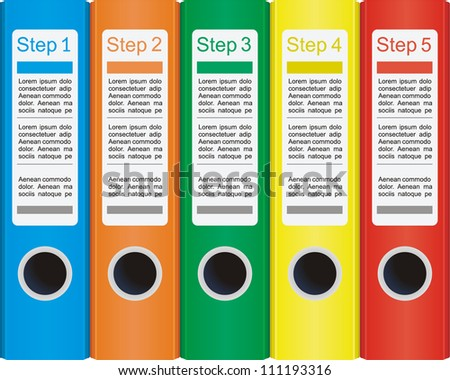 Conceptual vector illustration with folders and place for your text. For different business design - stock vector