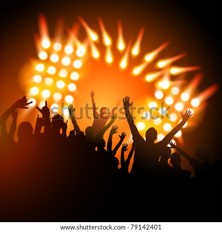 Concert Crowd - stock vector