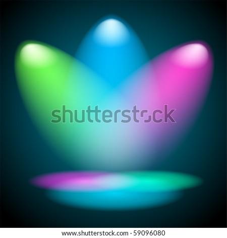 Concert light - stock vector