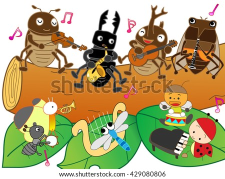 Concert of summer insects