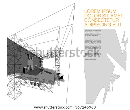 Concert Stage Design Stock Vector Royalty Free 367245968