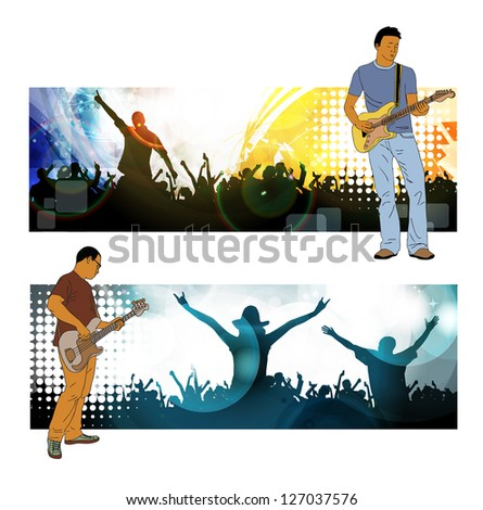 Concert. Vector banner - stock vector