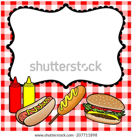 Concession Stand Menu Stock Vector 207711898 - Shutterstock