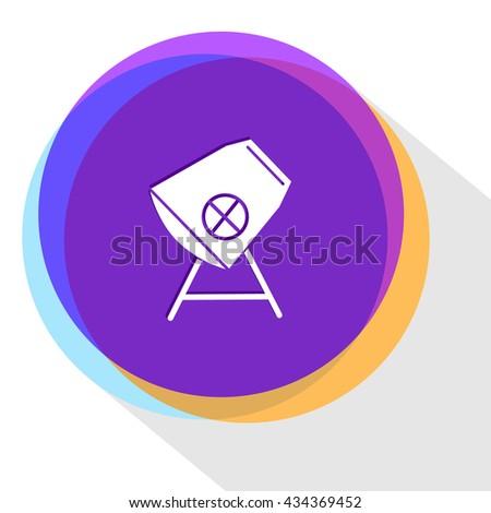 concrete mixer. Internet template. Vector icon. - stock vector
