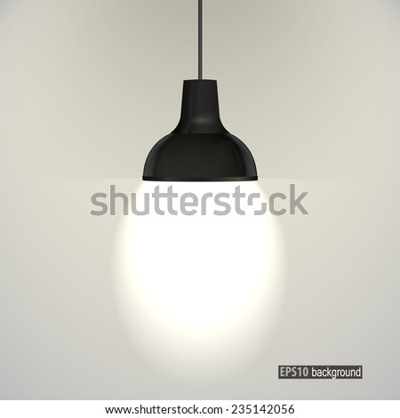 concrete wall and ceiling lamps. eps10 vector - stock vector