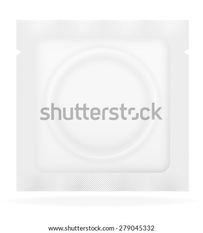 condom in white package vector illustration isolated on background