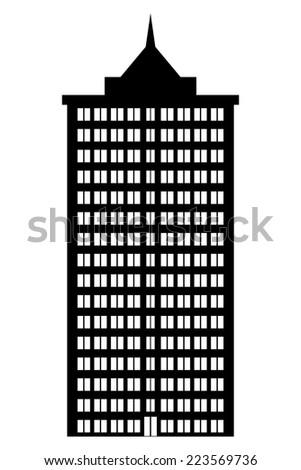 Condominium icon on white background. Vector illustration. - stock vector