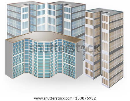 Condominium vector on a white background