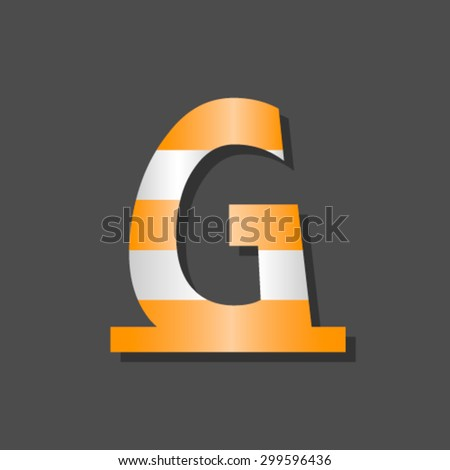 Cone font, letter G - stock vector