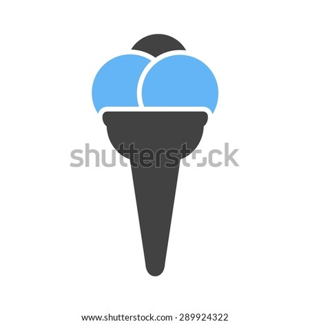 Cone, icecream, refreshment icon vector image. Can also be used for eatables, food and drinks. Suitable for use on web apps, mobile apps and print media
