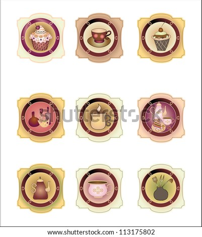 Confectionery label set 3 - stock vector