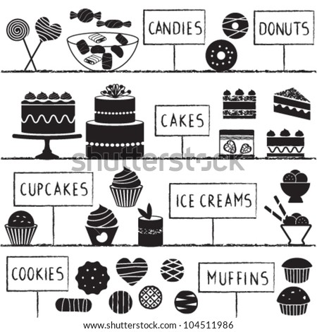 Confectionery set - stock vector