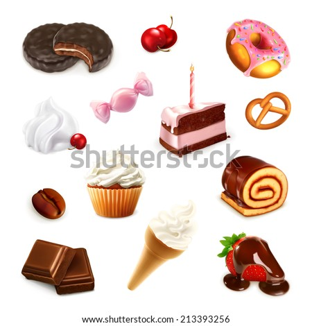 Confectionery, vector set 2 - stock vector