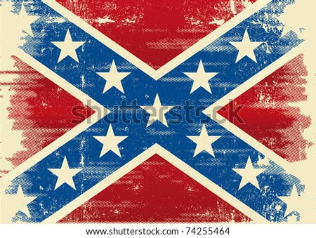 Confederate flag. A background for a poster - stock vector