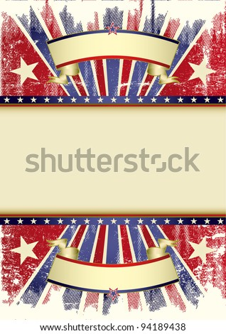 Confederate used frame. A background for a poster. - stock vector