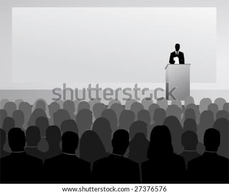 conference - stock vector