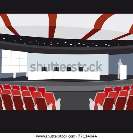 Conference hall vector illustration sampler - stock vector