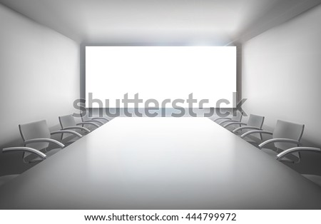 Conference room. Vector illustration. - stock vector