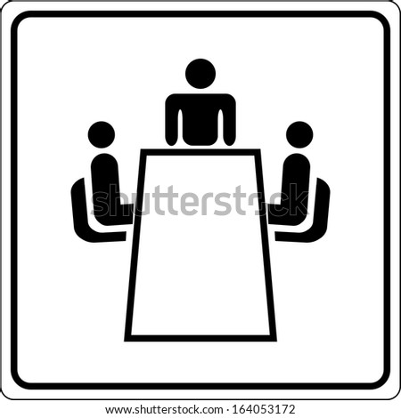 conference sign - stock vector