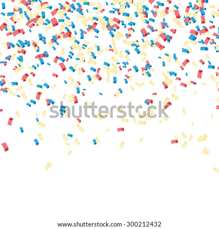 Confetti colorful. Celebratory Background. Illustration Vector EPS10 - stock vector
