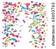 Confetti falling vector background - stock photo