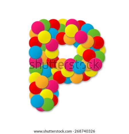 Confetti font - stock vector