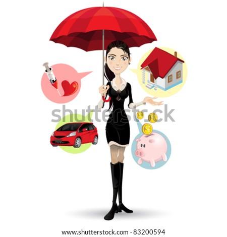 Confident Customer Service Representative Explaining Procedure - stock vector