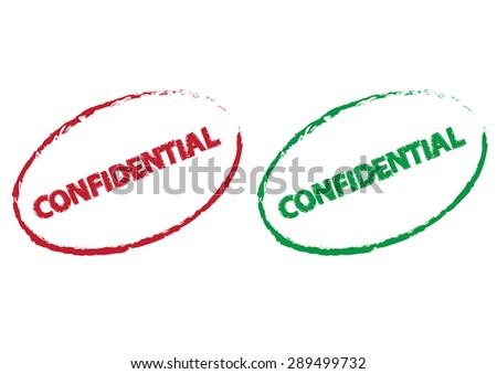 confidential grunge effect. vector illustration - stock vector