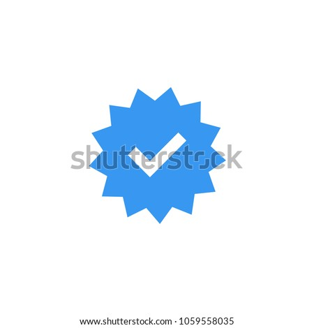 confirmed account icon official account sign stock vector royalty