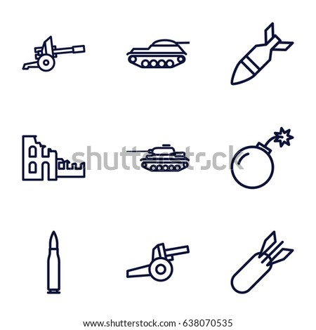 Conflict Icons Set Set 9 Conflict Stock Vector 2018 638070535