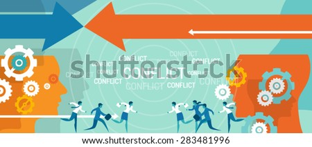 conflict management in business concept  - stock vector