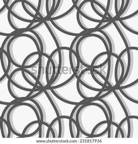 Confuse linear pattern. Seamless and simple background. - stock vector