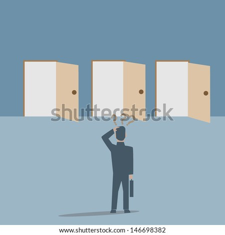 Confused - stock vector
