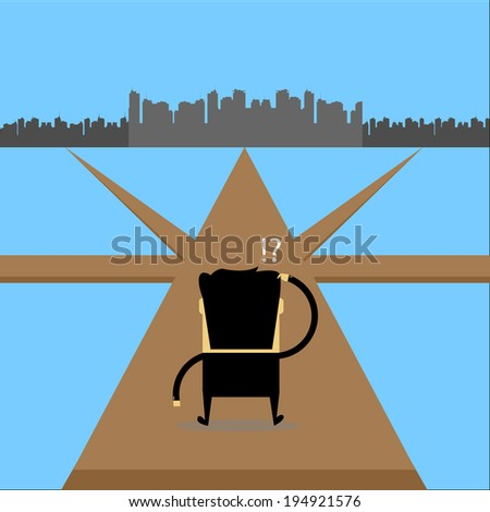 Confused with the business - stock vector