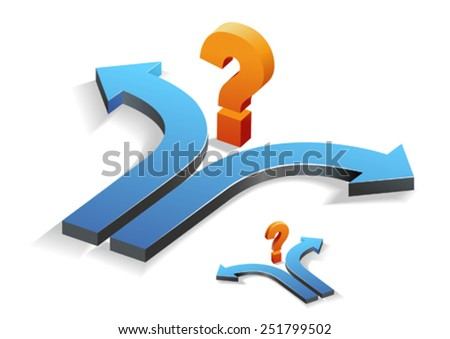 Confusion / Decision Making/Question - stock vector