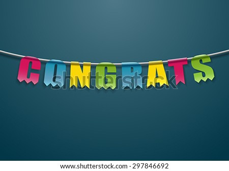 Congrats - stock vector